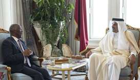 Amir meets African Union official