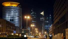 A photo taken yesterday shows a deserted street in Kuwait city amid the Covid-19 coronavirus pandemi