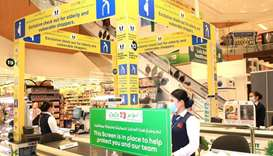 Transparent protective screens are being made available across LuLu Hypermarkets to combat Covid-19.
