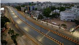A view shows almost empty roads during a lockdown to limit the spreading of coronavirus disease (COV