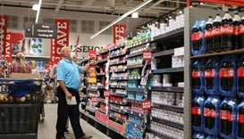 A shopper is seen at a Pick n Pay store, ahead of a nationwide lockdown for 21 days to try to contai