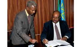 The agreement was signed by QFFD Director General Khalifa bin Jassim al-Kuwari and Ethiopian Ministe