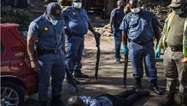South African police arrest 55 people on first day of lockdown