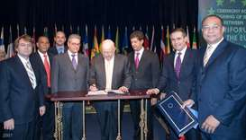MILESTONE: With the-then Foreign Minister Carlos Morales Troncoso, Dominican businesspersons and the