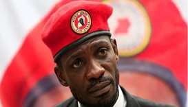 Bobi Wine, who was arrested in January at a rally marking his presidential bid, was among those who