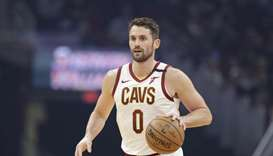Cavaliers forward Kevin Love is one of many NBA players to donate time and money for Covid-19 relief