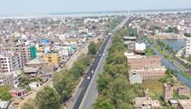 National Highway 30 near Gaighat in Patna, Bihar,