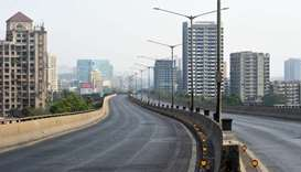 A deserted street in pictured during a government-imposed nationwide lockdown as a preventive measur