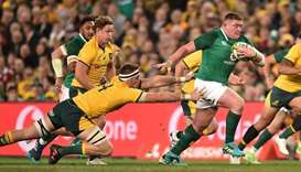 "Rugby Australia said home tests against Ireland and Fiji in July were ""highly unlikely"" to go ahead,"