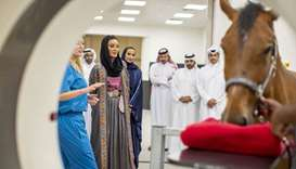 Her Highness Sheikha Moza bint Nasser, Chairperson of Qatar Foundation, officially opened Al Shaqab'