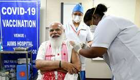 Modi takes home-grown vaccine as India widens immunisation drive