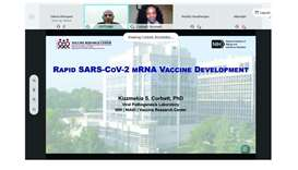 Snapshot of the seminar on vaccine development.