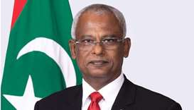 Maldives president arrives in Doha today