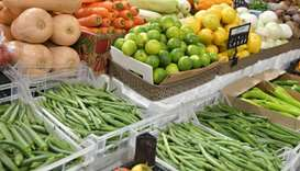 The fresh vegetable produce at Al Sailiya market