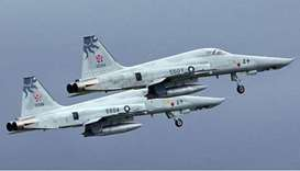 F-5E jets of Taiwanese air force