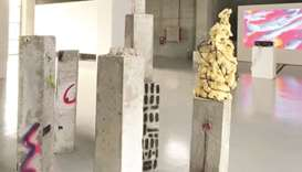 The 'Acts of Listening from Future Generations' exhibition will run until July 24 at the Doha Fire S