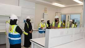 HE the Minister of Public Health Dr Hanan Mohamed al-Kuwari during her visit to the National Health
