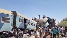 32 die as two passenger trains collide in Egypt