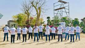Participants of the Chaliyar Doha 'Water Walk'.