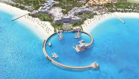 A view of Hilton Salwa Beach Resort & Villas.