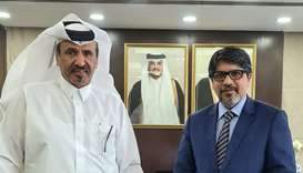 Ambassador Jashim Uddin and Qatar Chamber first vice chairman Mohamed bin Towar al-Kuwari.