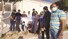 ATS colleagues with community friends marked Qatar Environment Day on February 26 by planting saplin
