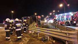 Six killed in Ukrainian bus accident in Poland