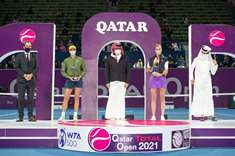 Sheikh Joaan Crowns Kvitova as Champion of 2021 Qatar Total Open