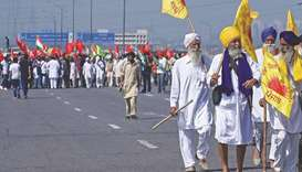 Farmers block highway outside Delhi