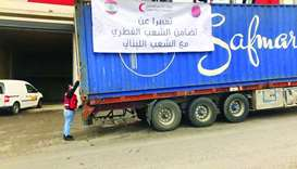 QRCS donates 50tonnes of food items for 1,050 families in Lebanon.