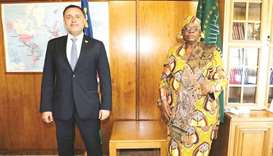 The Namibian Deputy Prime Minister wished the ambassador success in his work assignments and the bil
