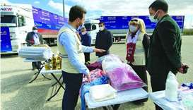 Qatar Charity continues delivering aid to internally displaced Syrians