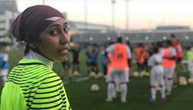Qatar women's team goalkeeper supports country's FIFA World Cup legacy programme