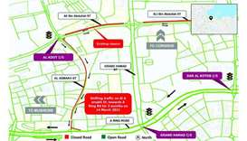 Shifting of traffic for three months on Al Asmakh Street
