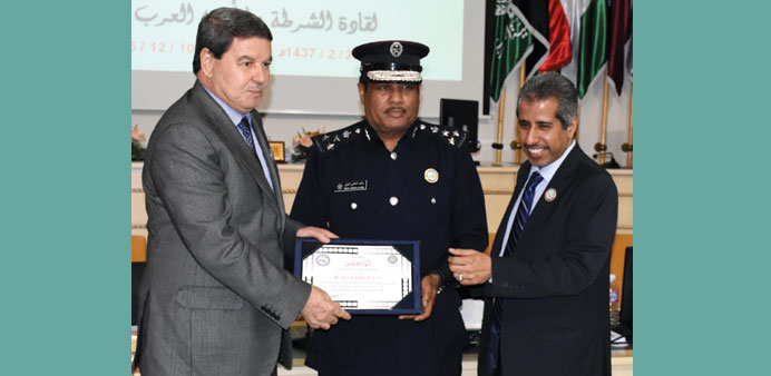 Brigadier Rashid Shaheen al-Atieq receiving the award.