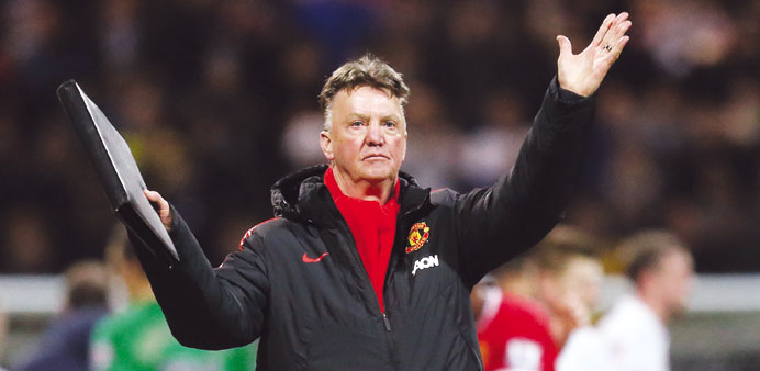 United's Van Gaal relishes Arsenal Cup showdown