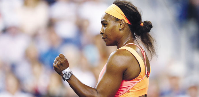 Serena powers past Bacsinszky to book semis date with Halep