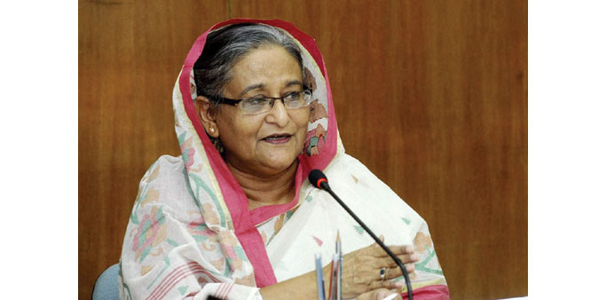 "Sheikh Hasina: ""There is sufficient work for them, still they are leaving the country in such disast"