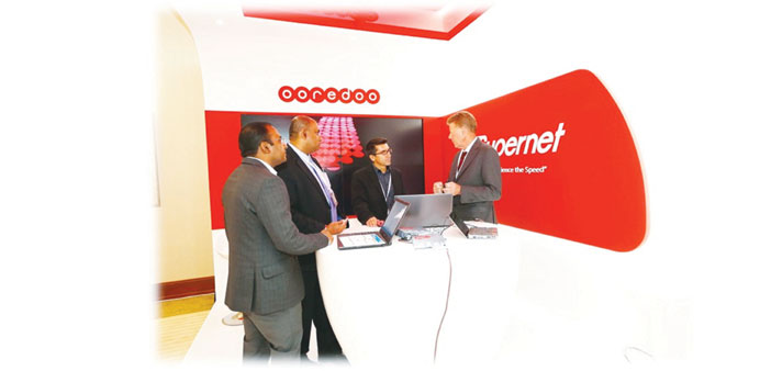 The Ooredoo team at the smart transport conference.