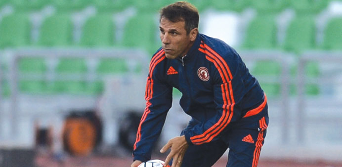Al Arabi coach Gianfranco Zola.
