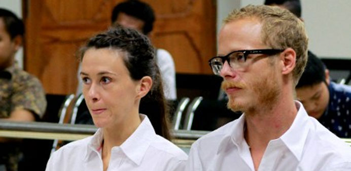 British journalists handed short jail terms in Indonesia