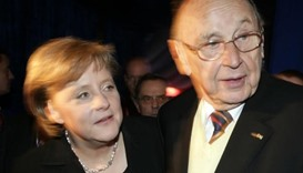 Genscher with Merkel