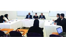 QU students presenting their arguments at the competition