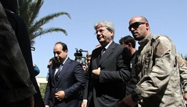 Italian foreign minister meets new leaders in Libya