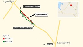 Six-month diversion on Al Jamaliya Road