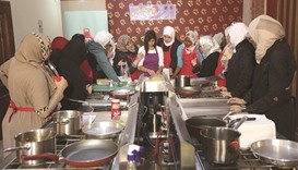 Cooking class for refugees