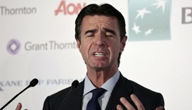 Spain's Industry Minister Jose Manuel Soria reacts as he delivers a speech during an event in Madrid