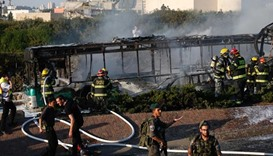 Bomb rips through Jerusalem bus, 21 wounded