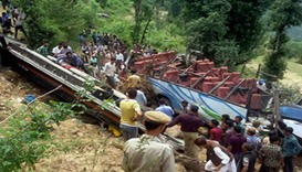Bus carrying Indian artists crashes, killing 27