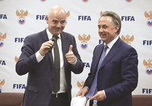 Moscow get thumbs up from Infantino over 2018 World Cup preparations